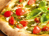 Pizza Pesto e Pomodorini